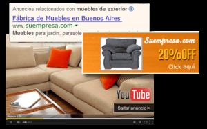 Campañas SEM para youtube, anuncios gráficos y de texto